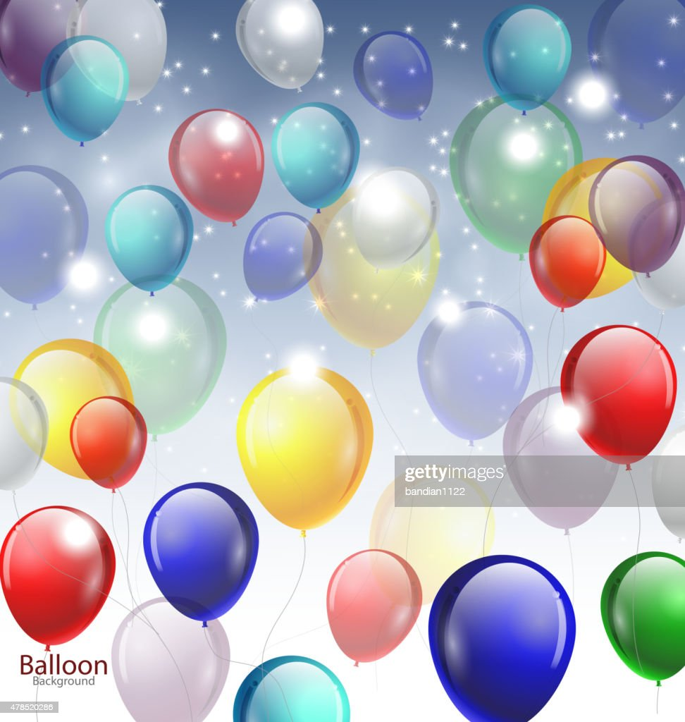 background with multicolored balloons for you design