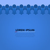 Background with people head silhouette. Vector