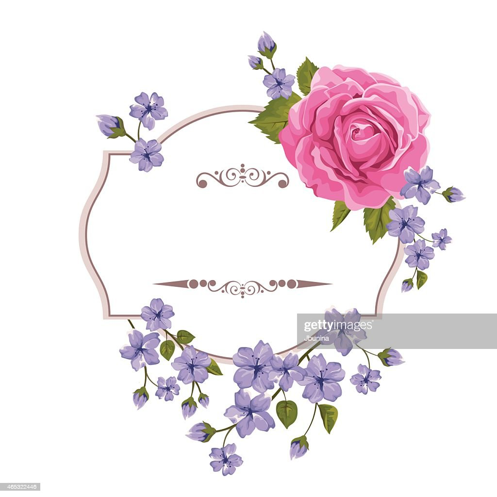 Background with roses. Vector illustration. Mothers Day card.