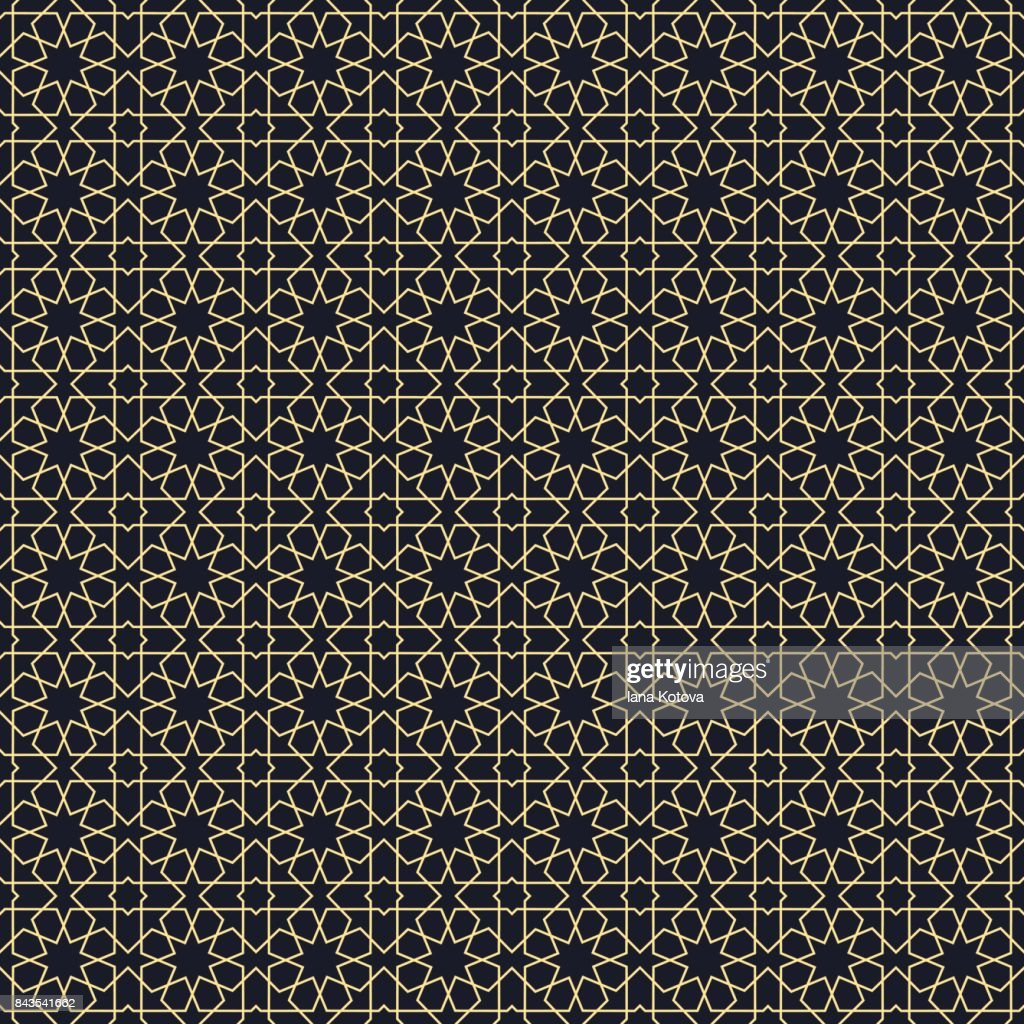 Background with seamless pattern in arabic style.