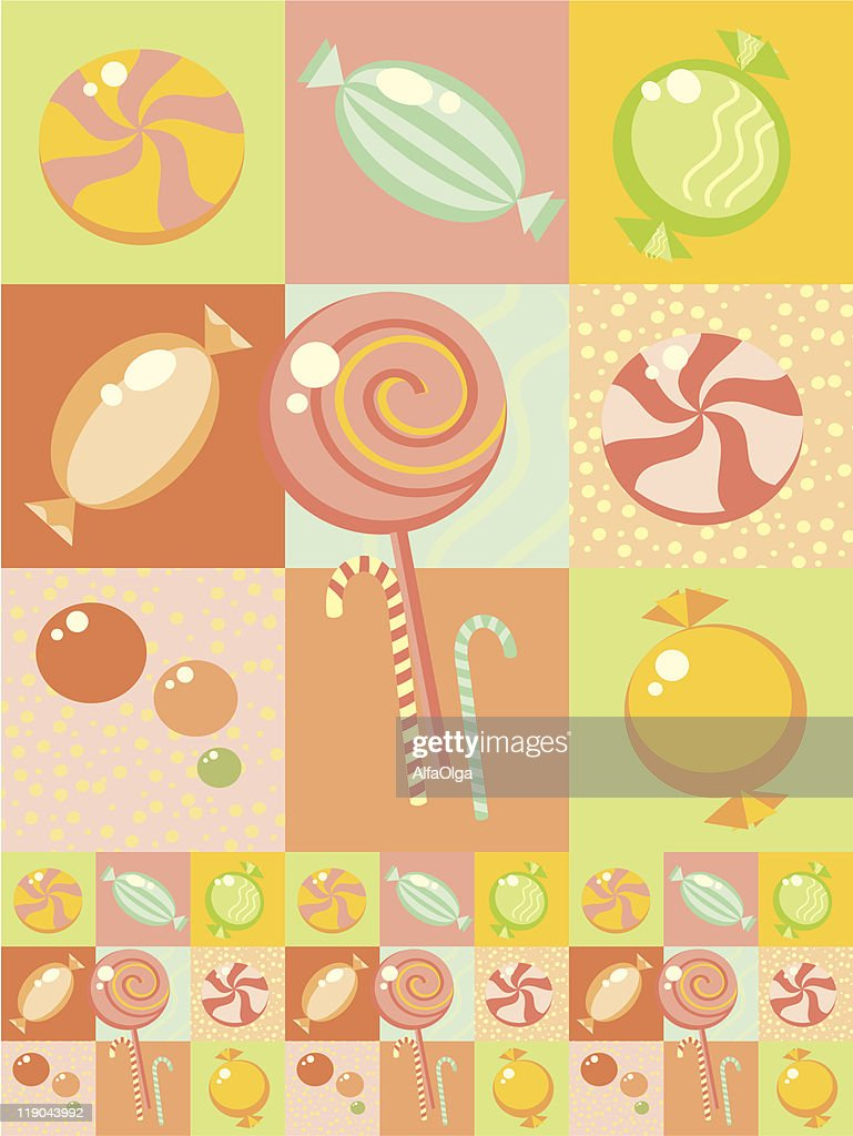 Background with sweets