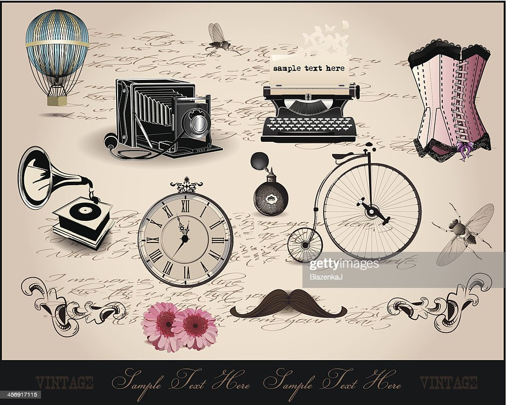background with vintage elements