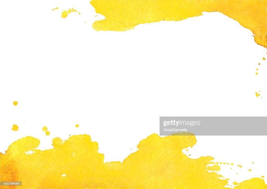 Background with yellow watercolor spot