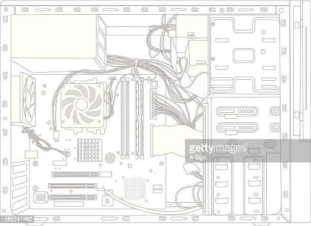 backgrounding vector silhouette - power supply box stock illustrations, clip art, cartoons, & icons