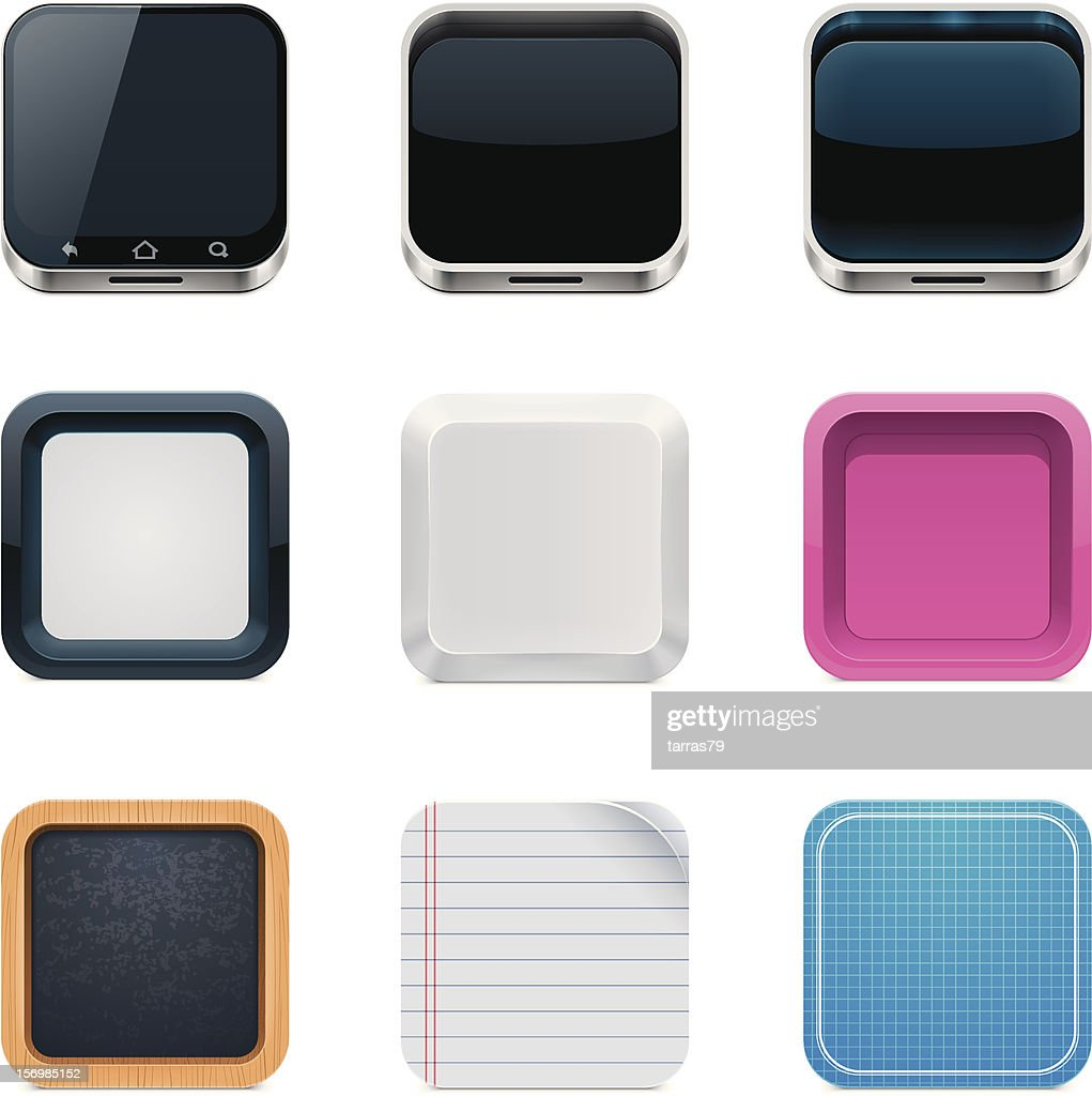 Backgrounds for square icons