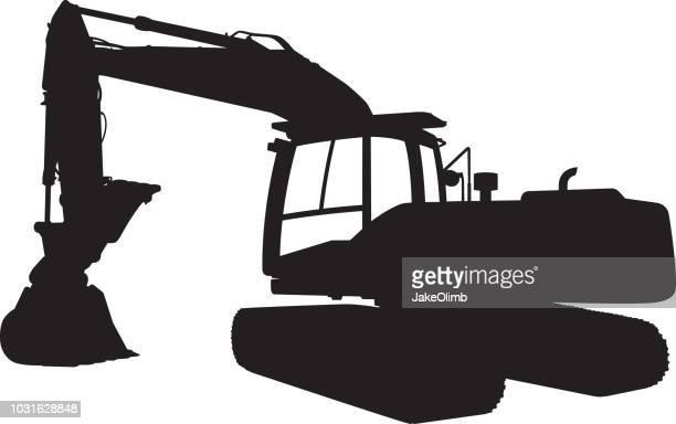 Backhoe Tractor Silhouette