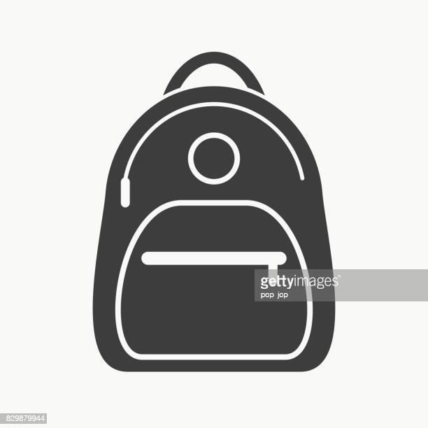 backpack flat icon - vector illustration - rucksack stock illustrations