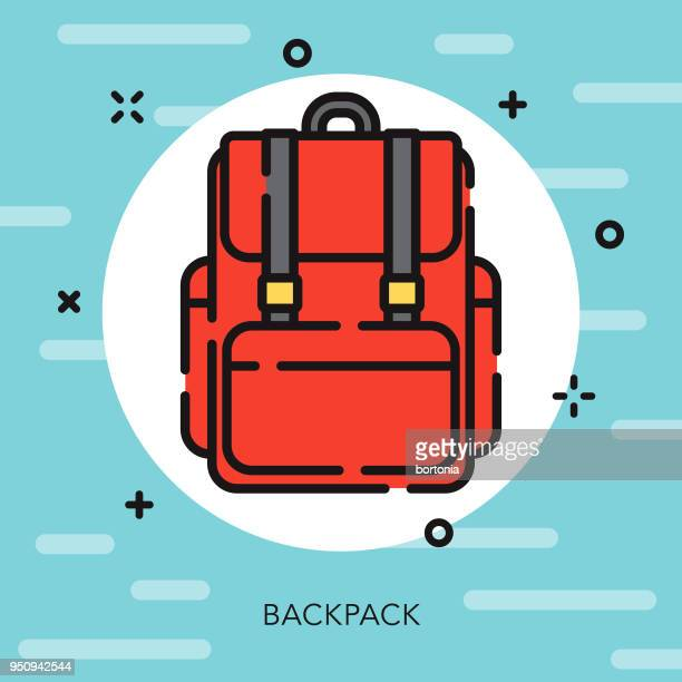 Backpack Open Outline School Supplies Icon