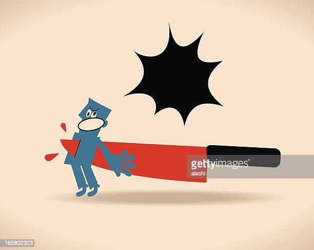 backstabbing - office politics stock illustrations, clip art, cartoons, & icons