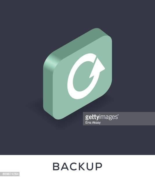 ilustrações, clipart, desenhos animados e ícones de ícone de backup - composição