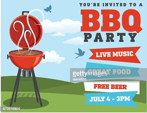 Bbq barbecue event invitation template vector art getty images keywords stopboris Choice Image
