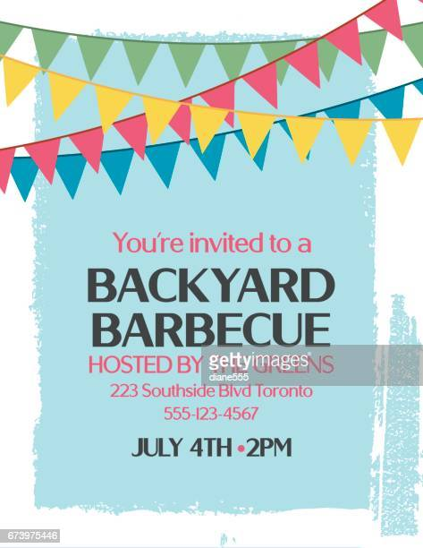Backyard BBQ Background Invitation Template