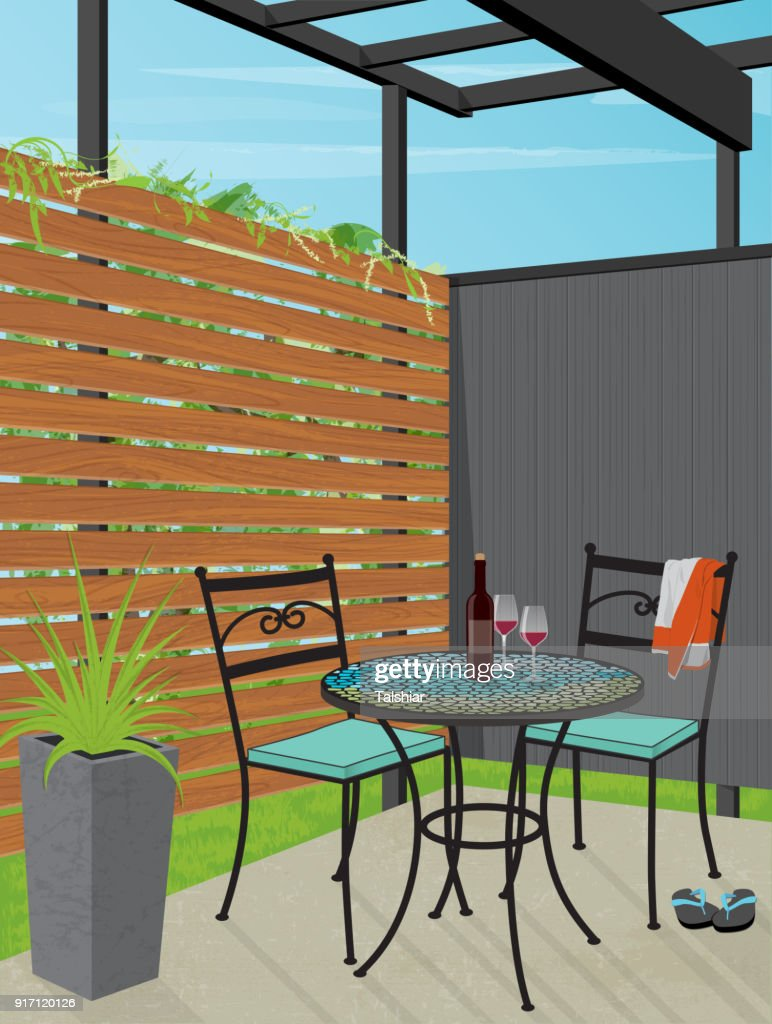 Backyard Patio Bistro Table