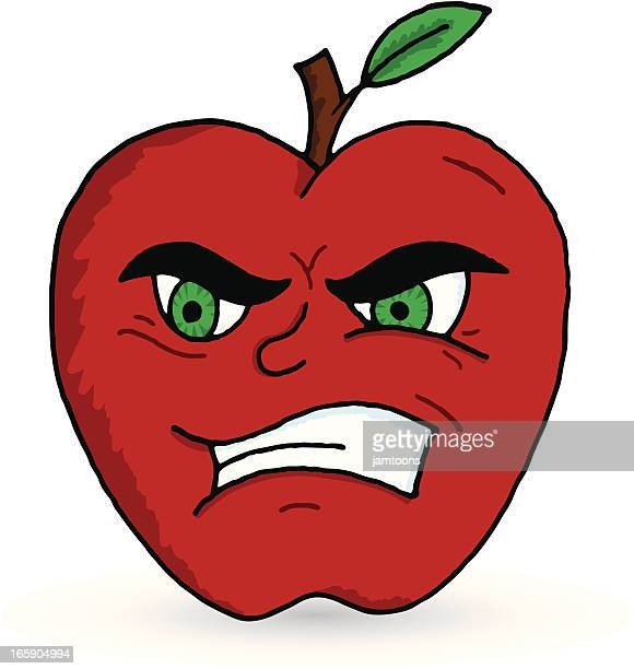 bad apple - rotting stock illustrations, clip art, cartoons, & icons