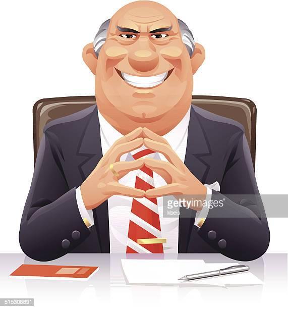 bad banker - evil stock illustrations