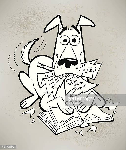 Bad Dog Ate My Homework Cartoon