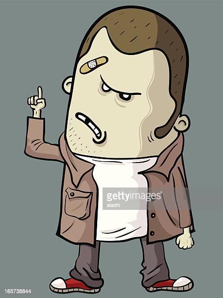 Bad Guy pointing at something