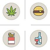 Bad habits icons