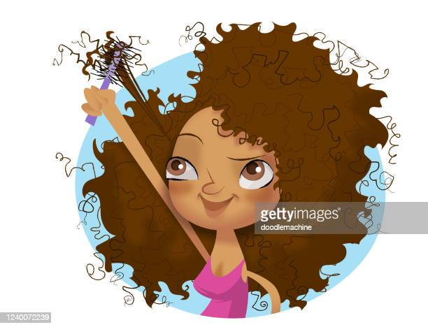 bad hair day - curly stock illustrations