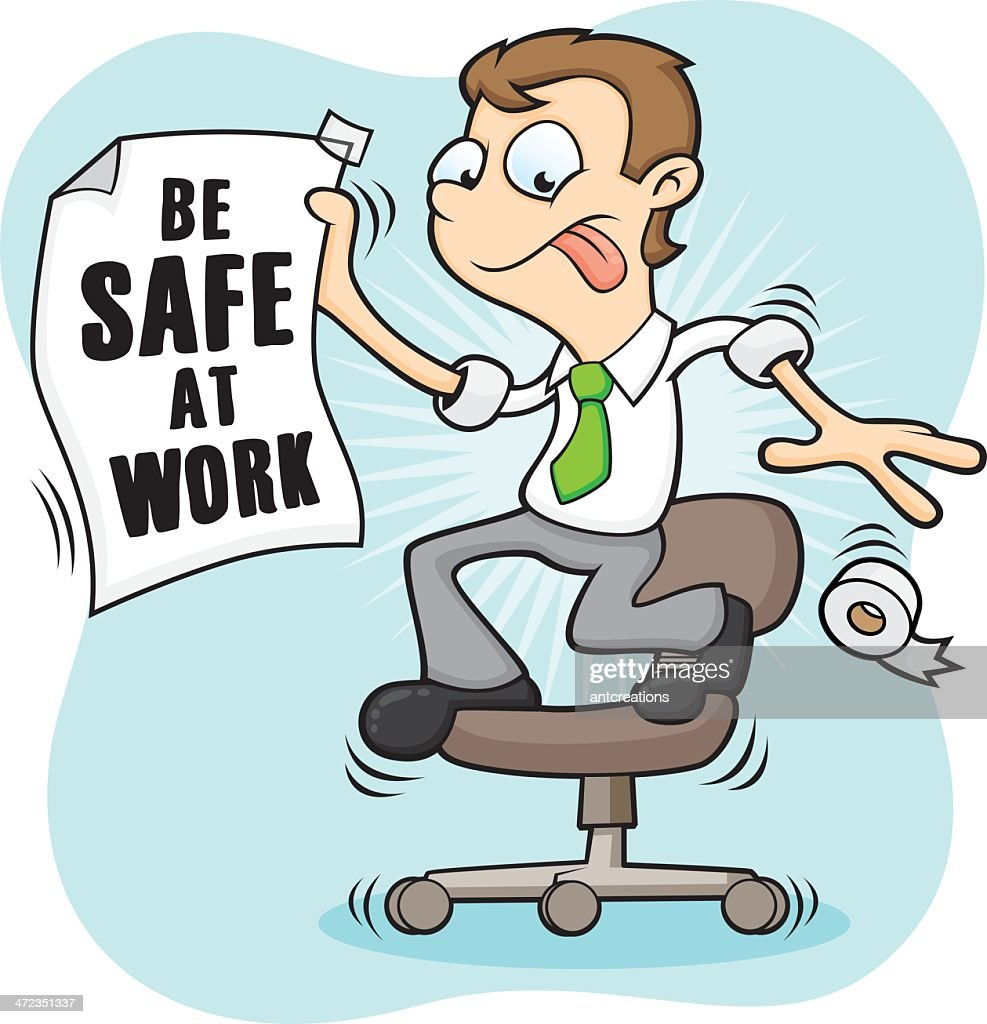 Bad Health And Safety Dont Stand On Office Chairs Vector Art ...