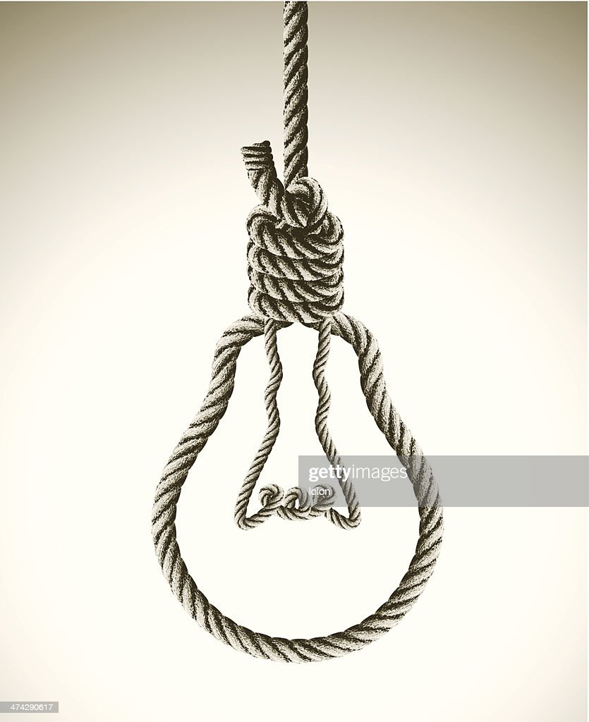Concept Bad bad idea concept with hangmans noose vector getty images