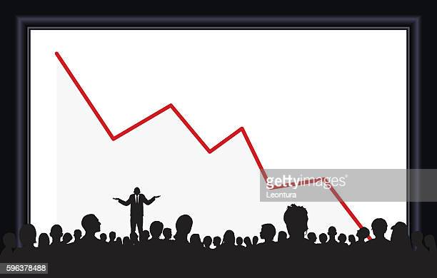 bad news (people are complete and moveable to the waste) - deterioration stock illustrations, clip art, cartoons, & icons