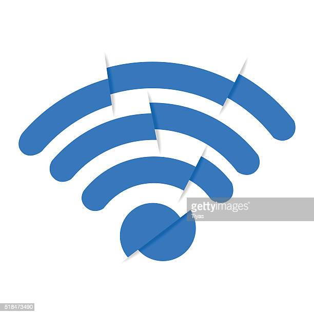 bad signal - wireless technology stock illustrations