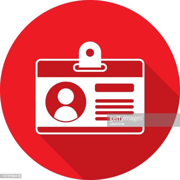 illustrations, cliparts, dessins animés et icônes de id badge icon silhouette 2 - permis de conduire
