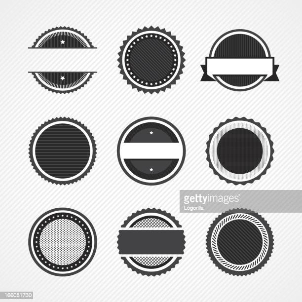 badge icons - seal stock illustrations