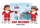badge of ski resort