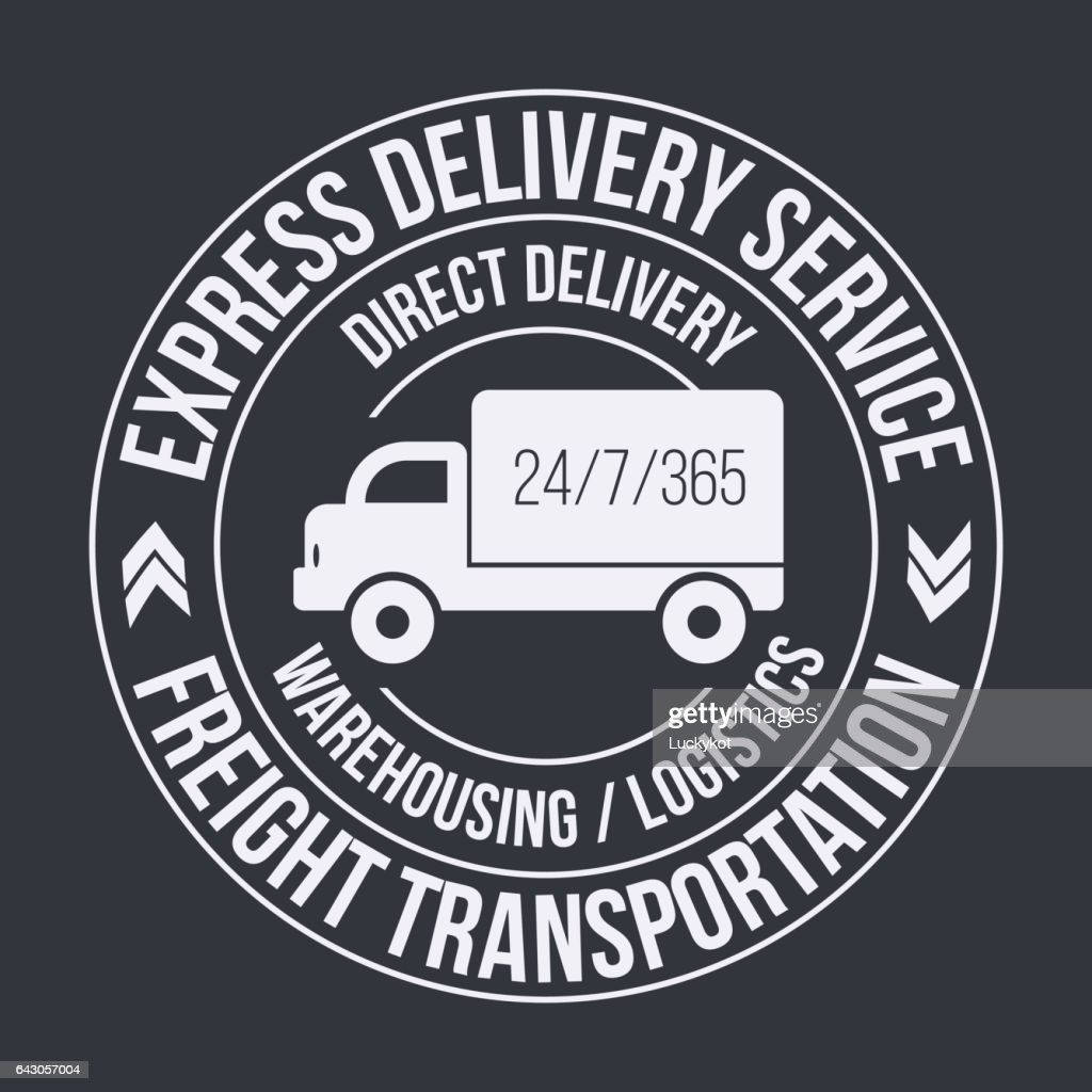 Badge template of fast delivery Cargo truck.