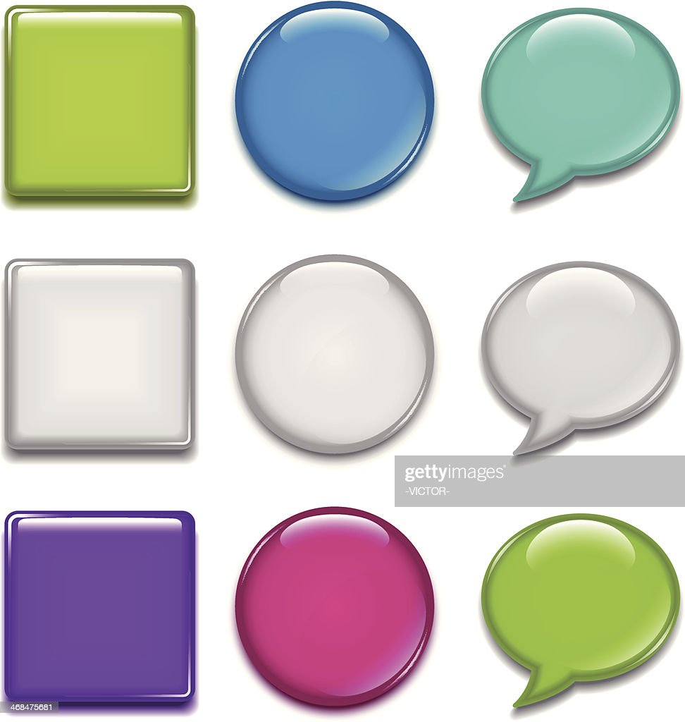 Badge (speech bubbles & rounded square & circle)