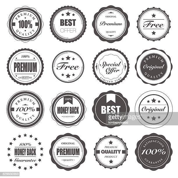 badge - label stock illustrations