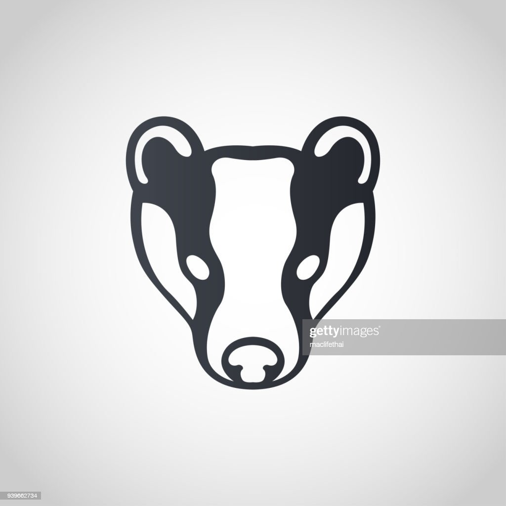 Badger symbol icon design, vector illustration