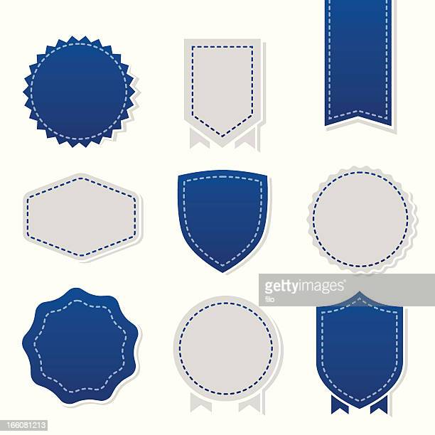 badges and seals - sewing stock illustrations
