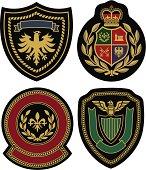 Badges displaying royal classic emblem designs