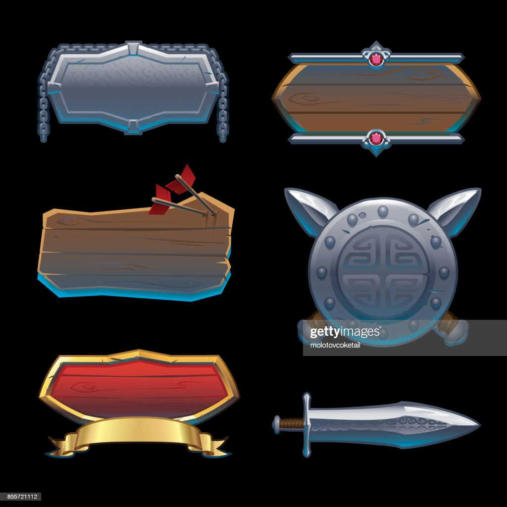 badges & symbol background in medieval style
