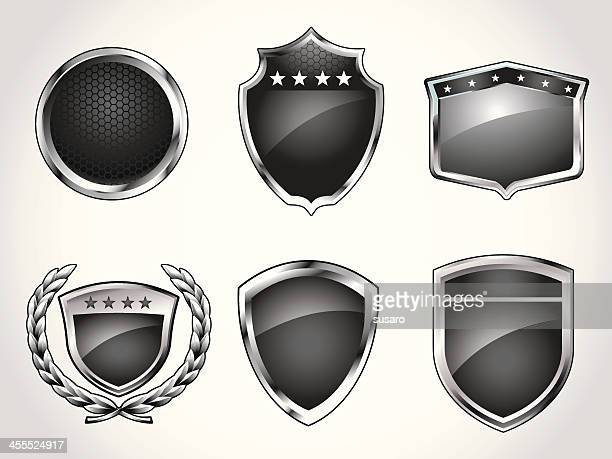 badges symbols - award plaque stock illustrations, clip art, cartoons, & icons