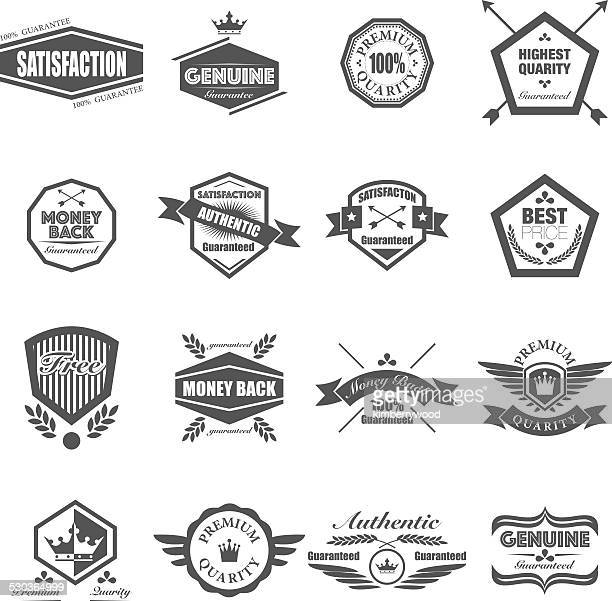 badges - animal wing stock illustrations