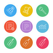 badminton , cart , key , paypal , shares , graph , tag , spring , free , discount , eps icons set vector