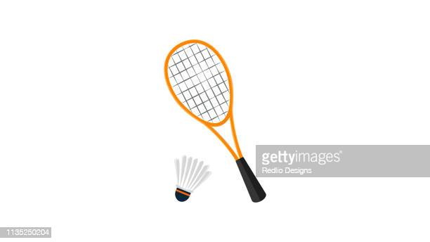 badminton kit icon - match sport stock illustrations, clip art, cartoons, & icons