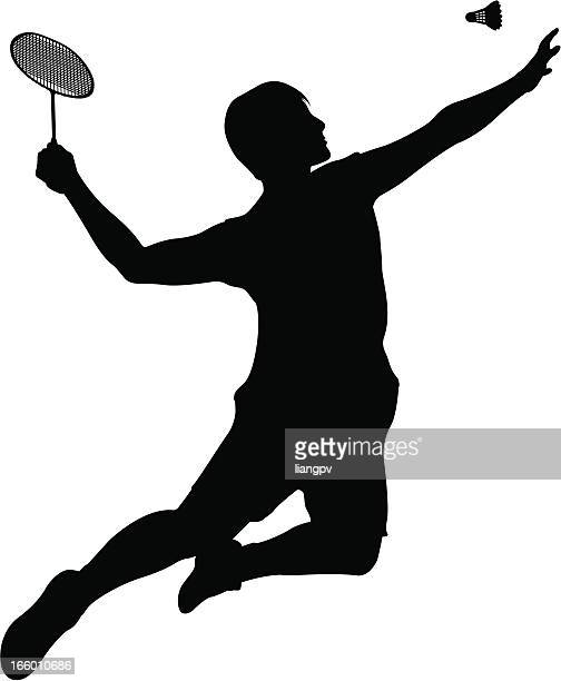 badminton player - sports organization stock illustrations, clip art, cartoons, & icons
