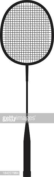 badminton racquet - badminton racket stock illustrations, clip art, cartoons, & icons
