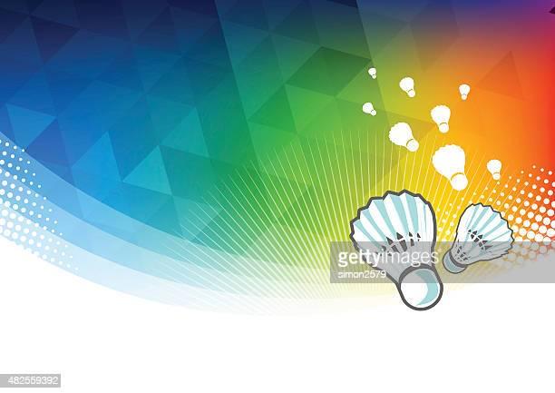 badminton sport background - badminton sport stock illustrations