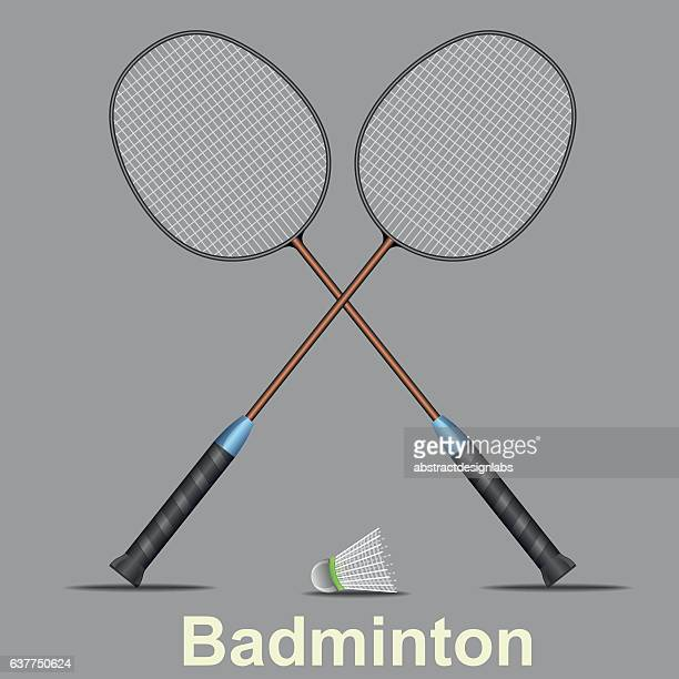 badminton sports - illustration - badminton racket stock illustrations, clip art, cartoons, & icons