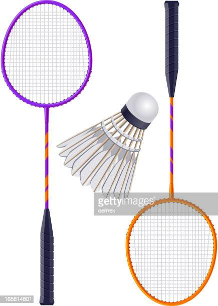 badminton - shuttlecock stock illustrations
