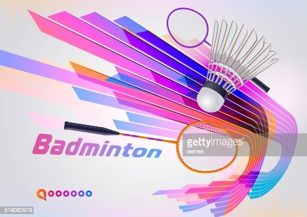 badminton - badminton racket stock illustrations