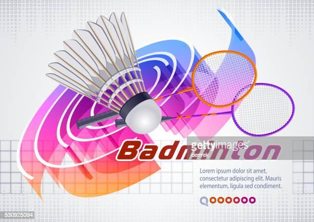 badminton - badminton racket stock illustrations, clip art, cartoons, & icons