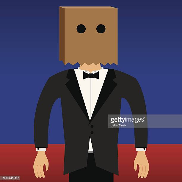 bag head - obscured face stock illustrations, clip art, cartoons, & icons