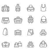 Bag icon set